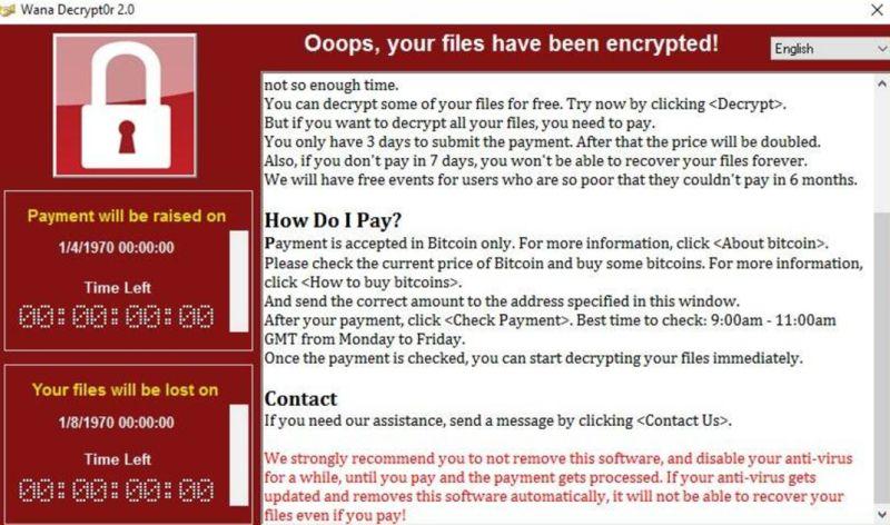 WannaCry WannaCryptor Ransomware Virus