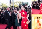 Xu Dabao Chinese flag dress Cannes