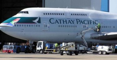 Cathay Pacific aircraft airplane