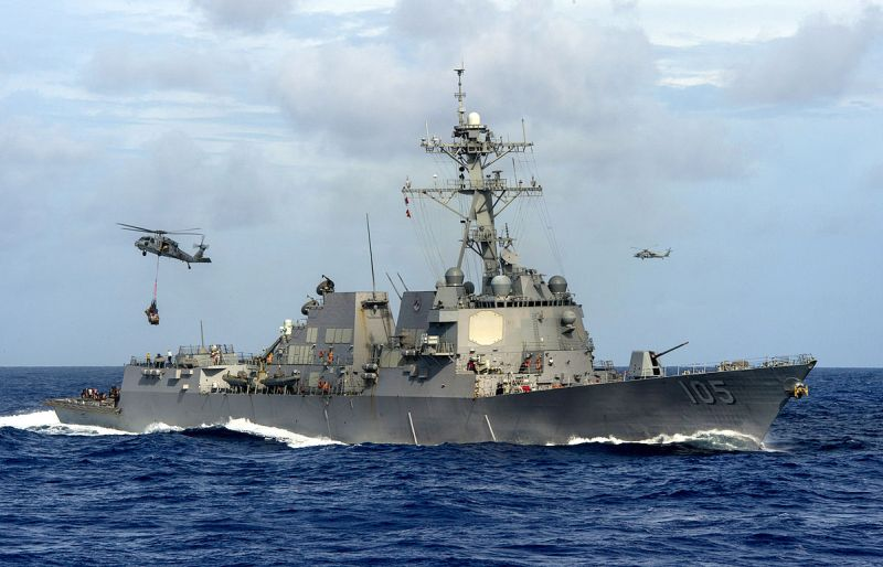 USA warship challenges China in South China Sea