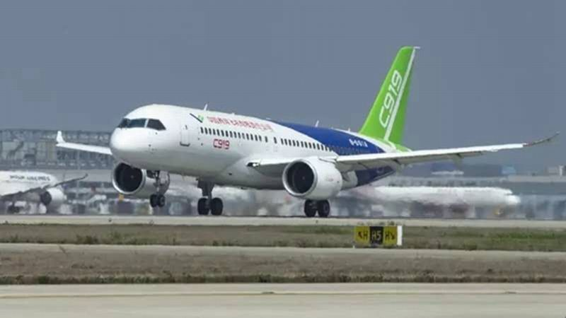 China's C919 passenger jet takes to the skies challenging Boeing and Airbus