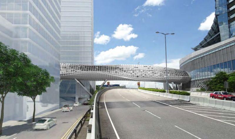 West Kowloon Cultural District Artist Square Bridge footbridge