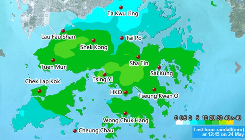 rainfall hko