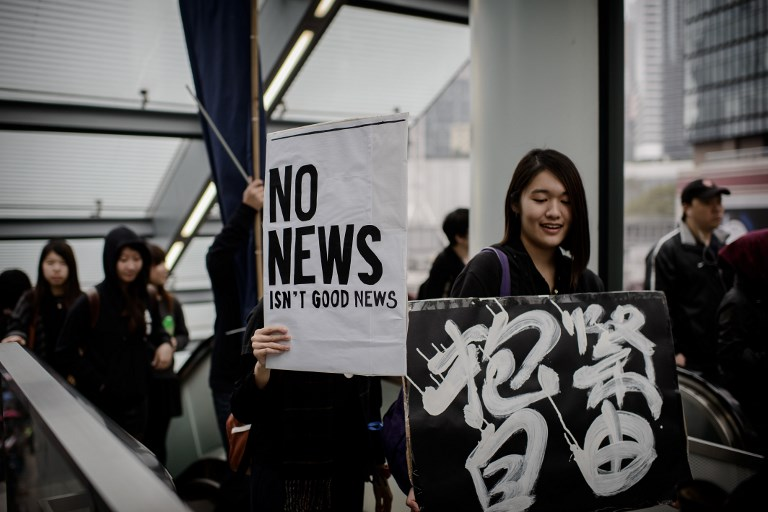 press freedom protest