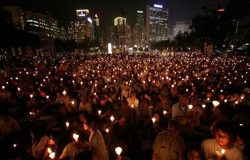 Tiananmen vigil victoria park june 4