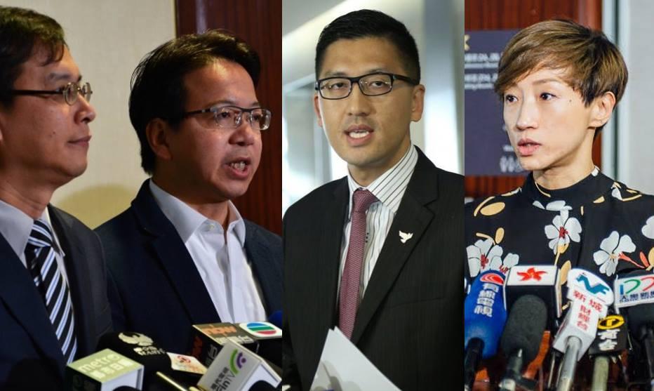 Ip Kin-yuen, Charles Mok, Lam Cheuk-ting and Tanya Chan