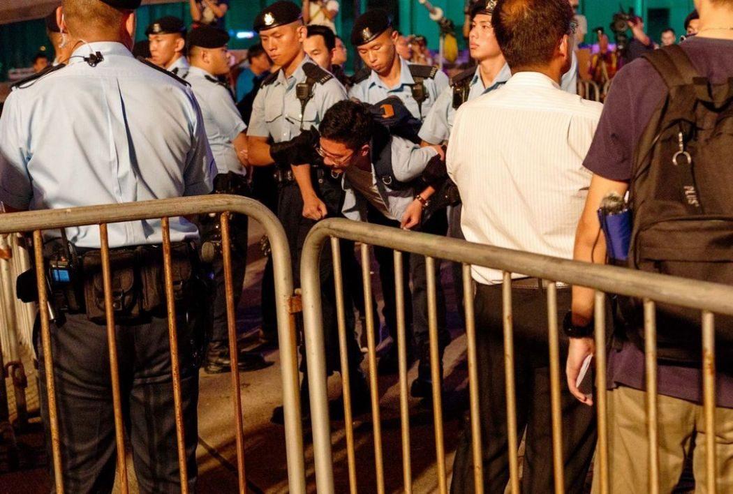 Bauhinia square wanchai protest handover arrestsv