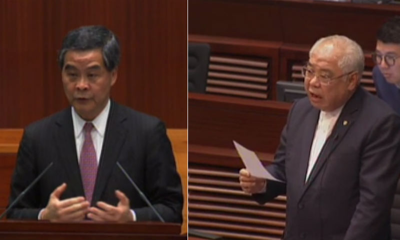 Leung Chun-ying Wong Ting-kwong