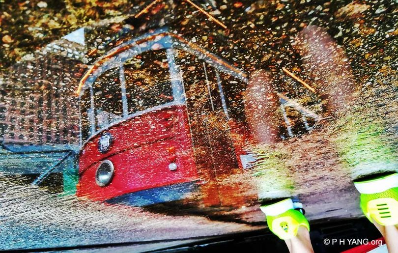 tram peak hong kong rain