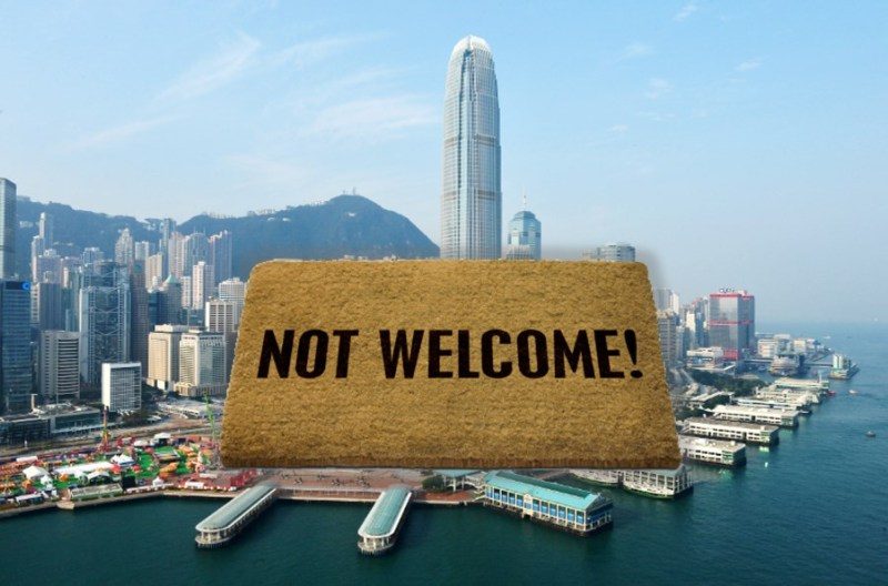 hong kong not welcome