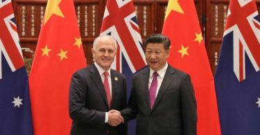 Malcolm Turnbull Xi Jinping Australia China