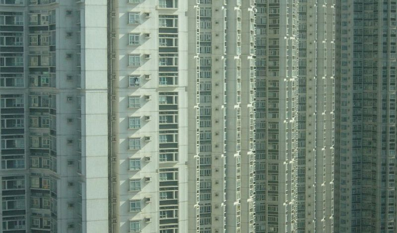 High density living homes apartments population