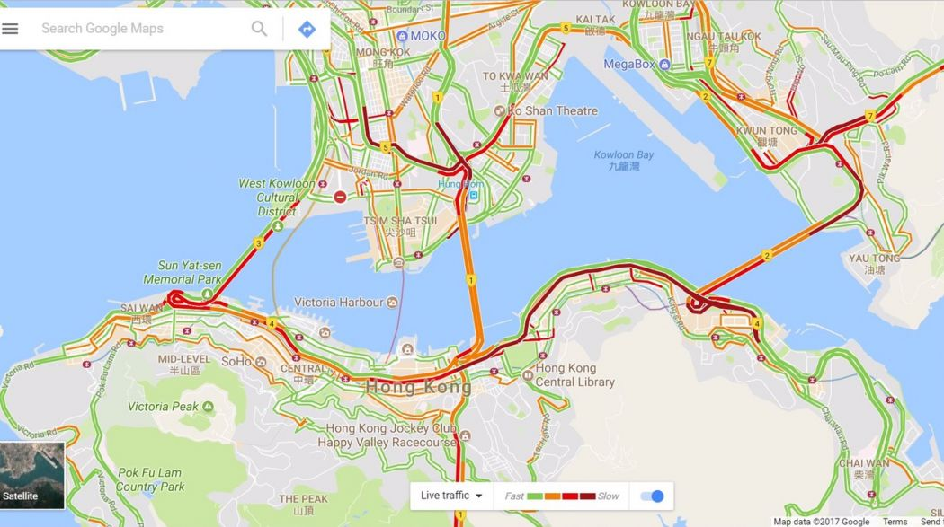 Traffic webcams go dark as Xi Jinping passes through Hong
