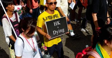 one country hong kong dying systems july 1 democracy march protest rally