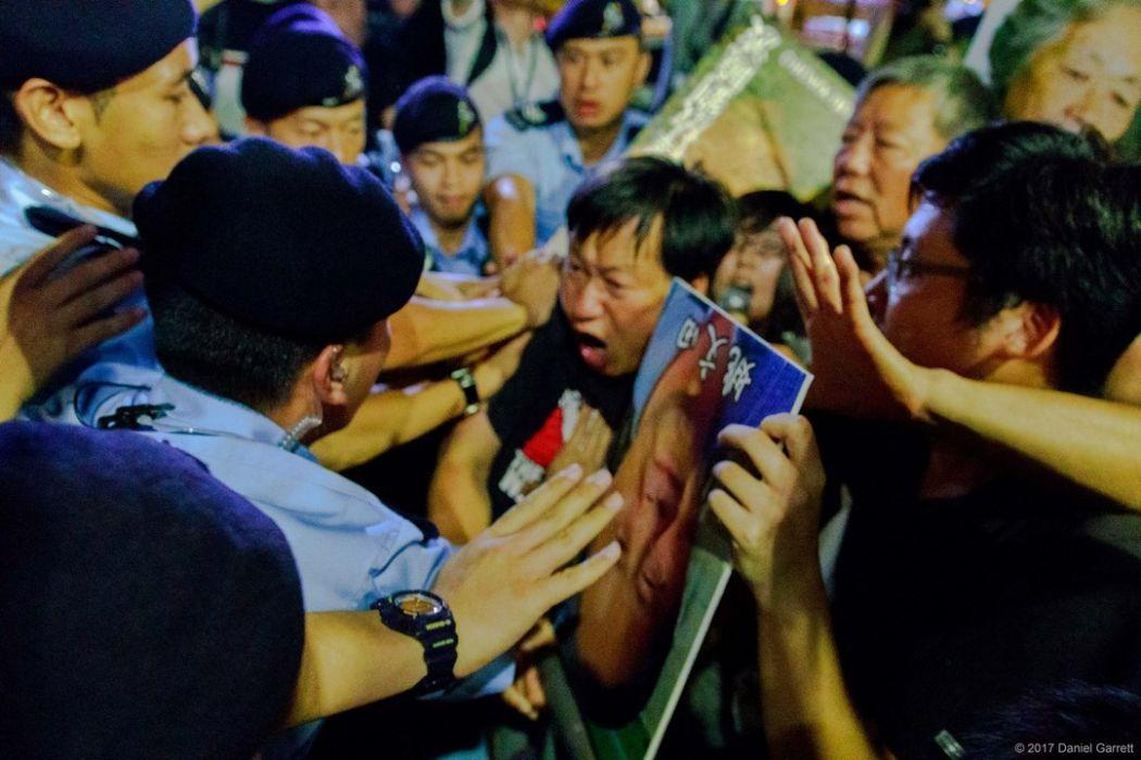 police liu xiaobo democracy july protest rally wanchai wan chai