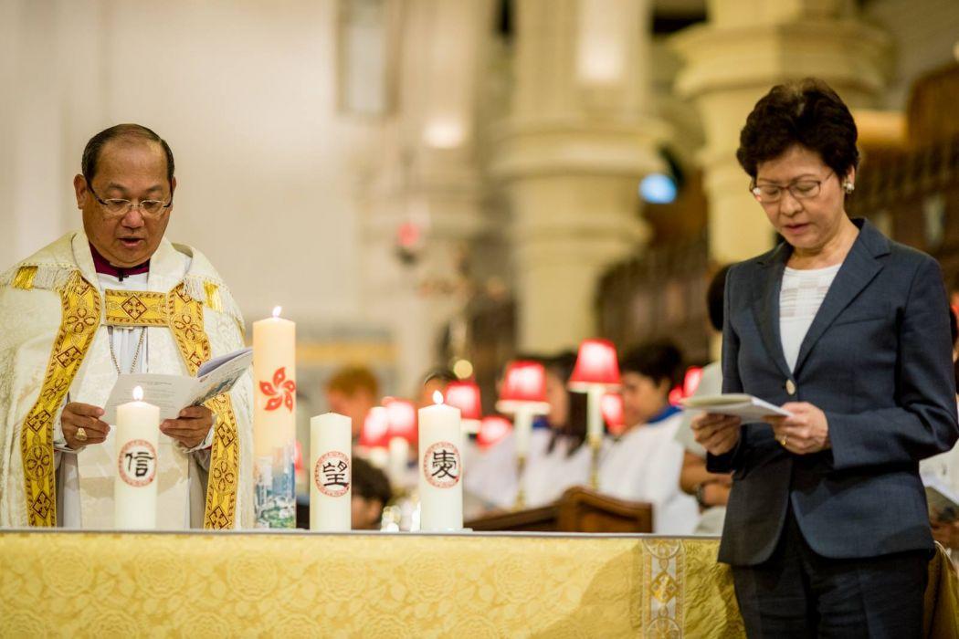 carrie lam christian religious catholic