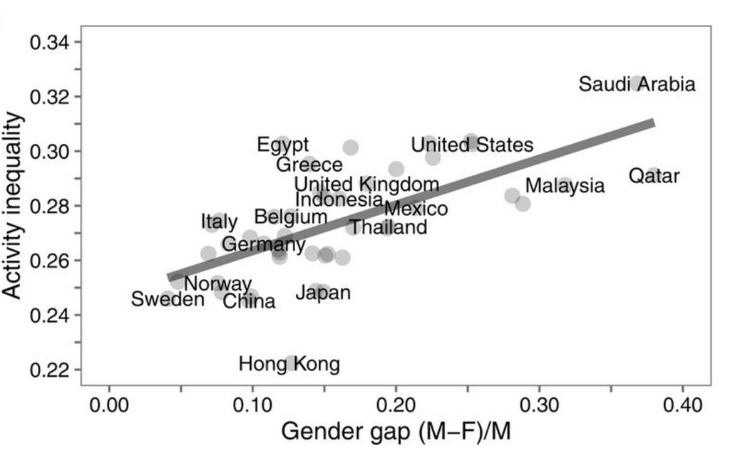 female activity inequality lazy