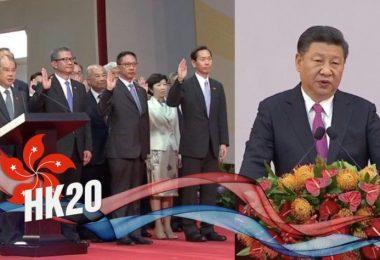 Xi Jinping Carrie Lam inauguration handover