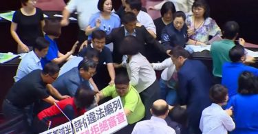 Taiwan Legislative Yuan legislature lawmakers parliament fight brawl