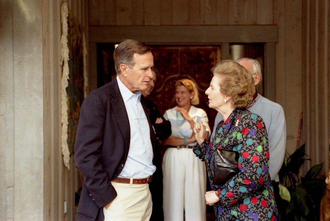 Margaret Thatcher George Bush