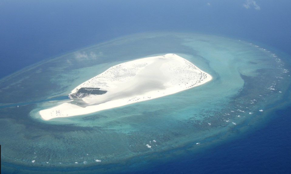 Triton Island in the Paracel Islands.
