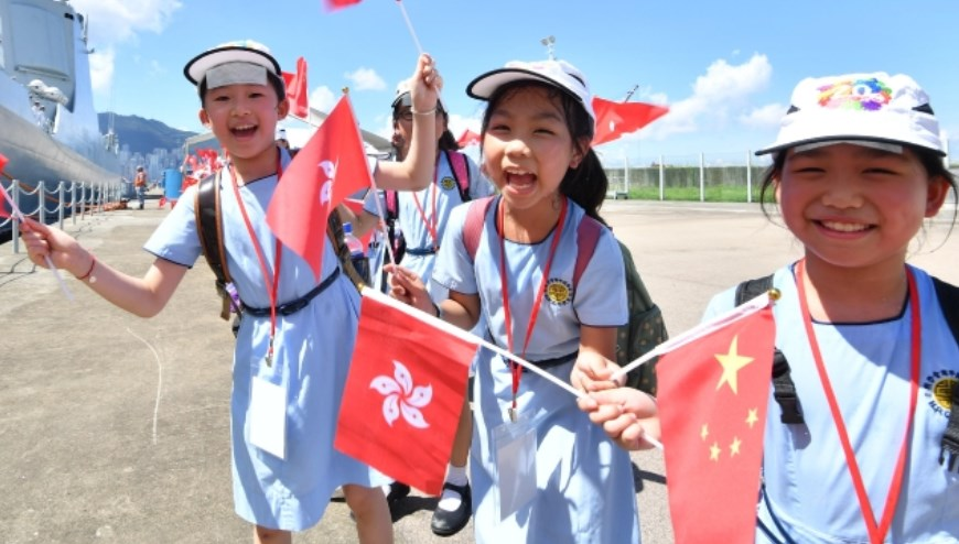 children kids hong kong china flag