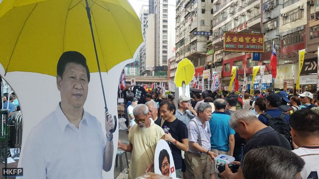 xi jinping july 1 democracy march rally protest