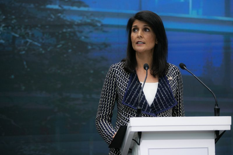 US Ambassador Nikki Haley