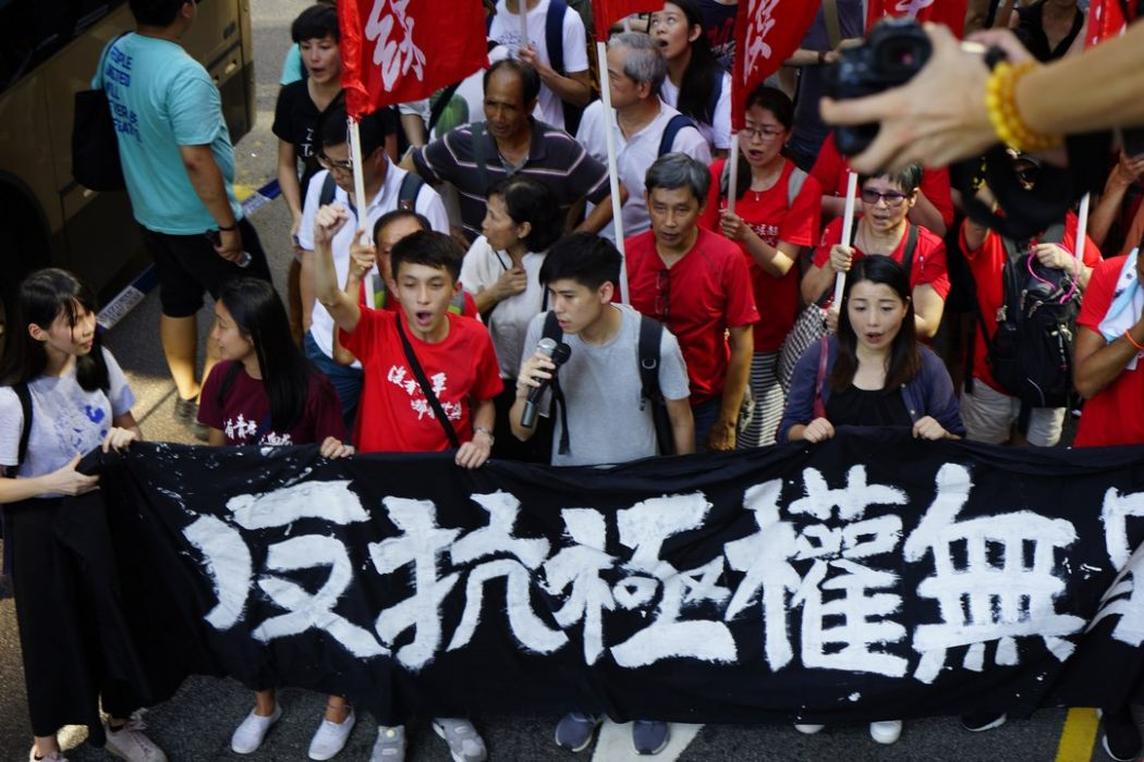figo chan lester shum lau siu-lai political prisoner occupy activist protest rally democracy