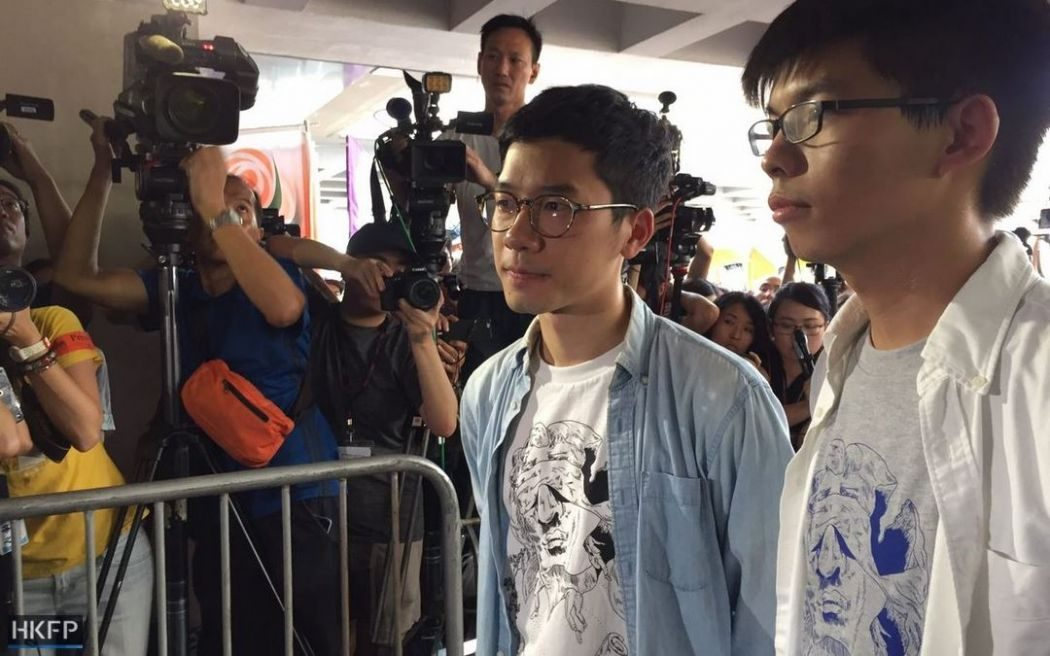 Nathan Law and Joshua Wong.