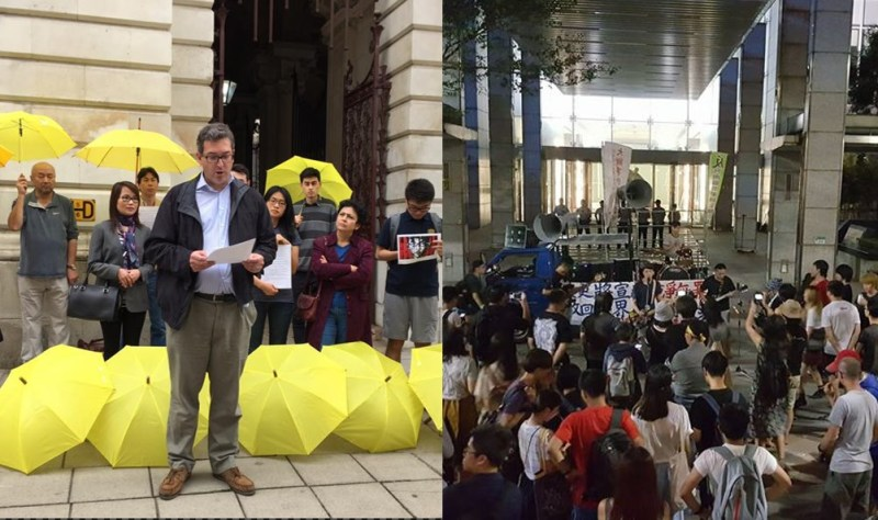 london taiwan occupy protest