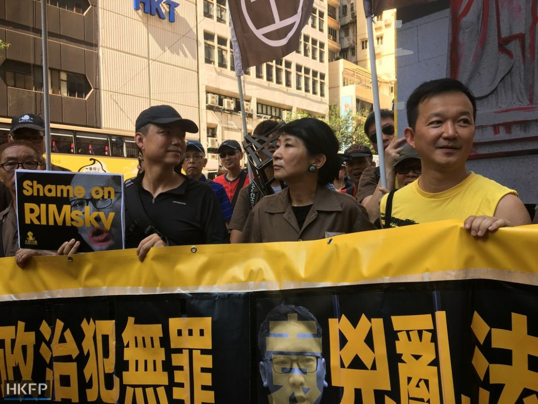ray chan claudia mo political prisoner occupy activist protest rally democracy