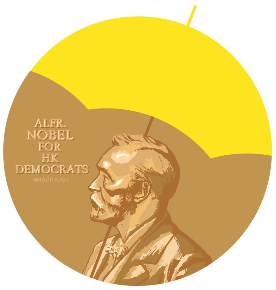 nobel joshua prize occupy badiucao