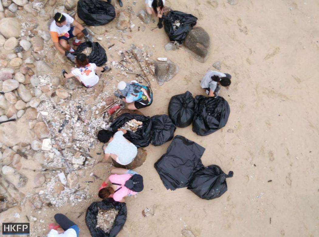 palm oil beach cleanup