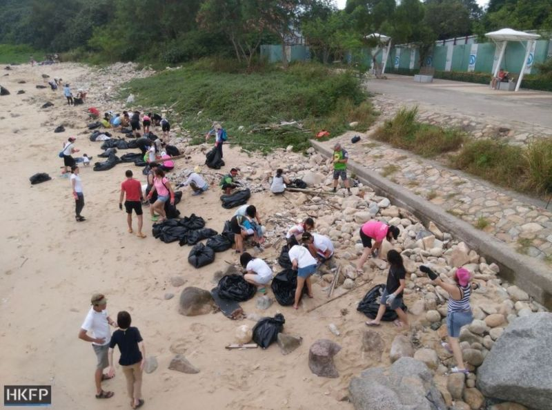 palm oil beach clean up