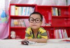 school kid child boy asian glasses