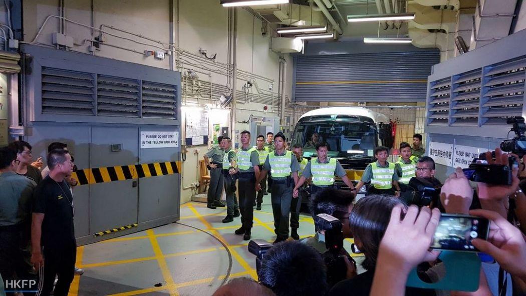 police van occupy activists