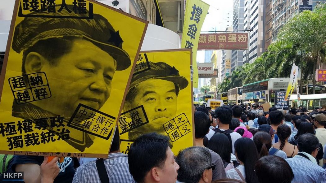 political prisoner occupy activist protest rally democracy cy leung xi jinping