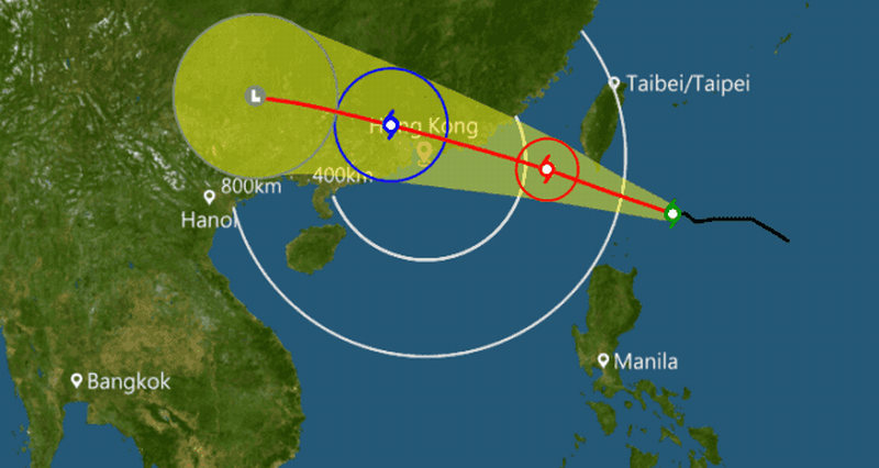 Cyclone causes Hong Kong flight cancellations