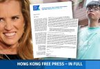 Kerry Kennedy and Joshua Wong.