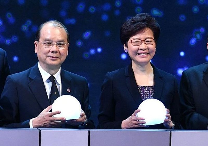 Chief Secretary Matthew Cheung and Chief Executive Carrie Lam