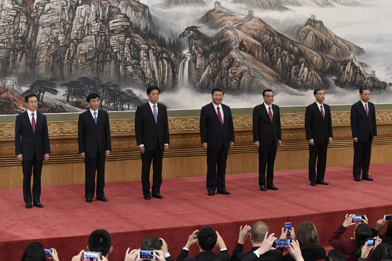 The Communist Party of China's new Politburo Standing Committee