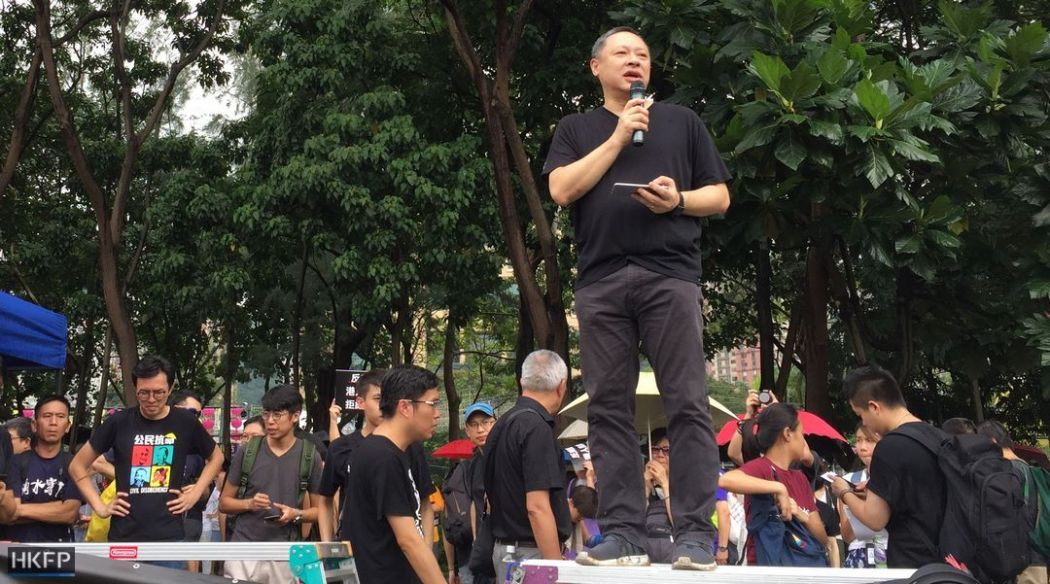 Figo Chan national day democracy march rally protest benny tai