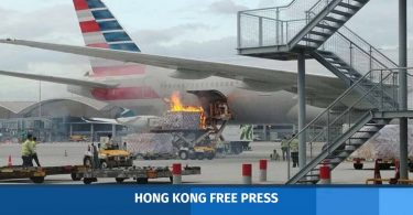 hong kong airport fire