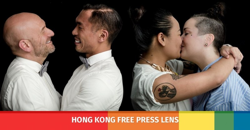 lgbt gay kiss portraits