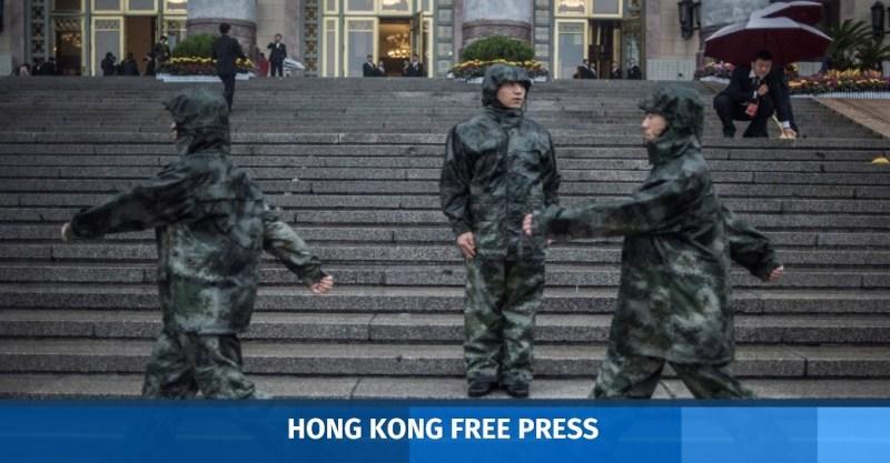 Chinese paramilitary guards