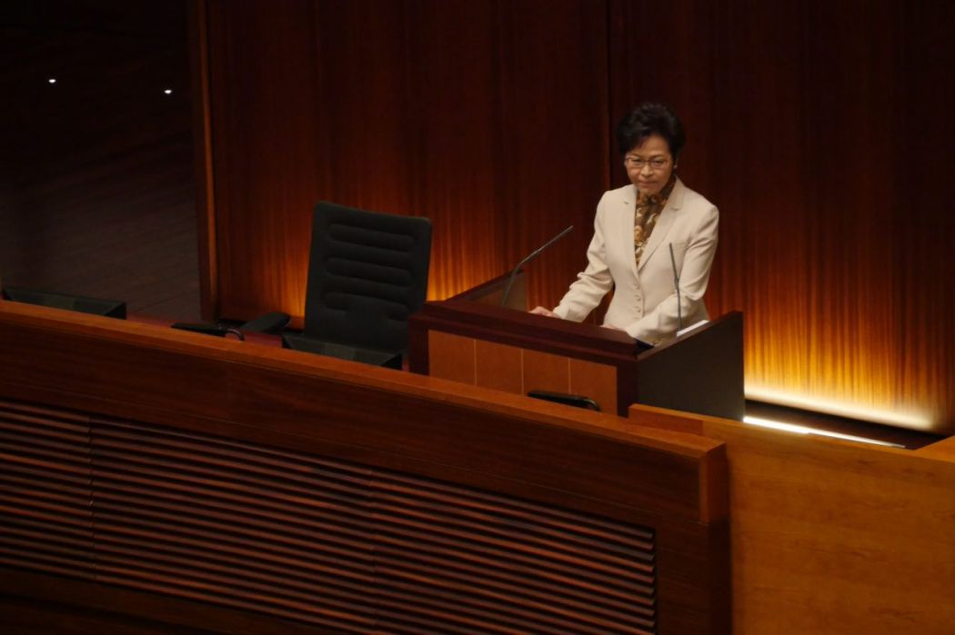 Hong Kong's new leader clears first hurdle