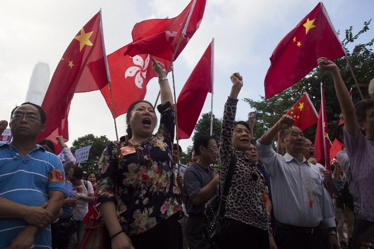 Pro-Beijing demonstrators