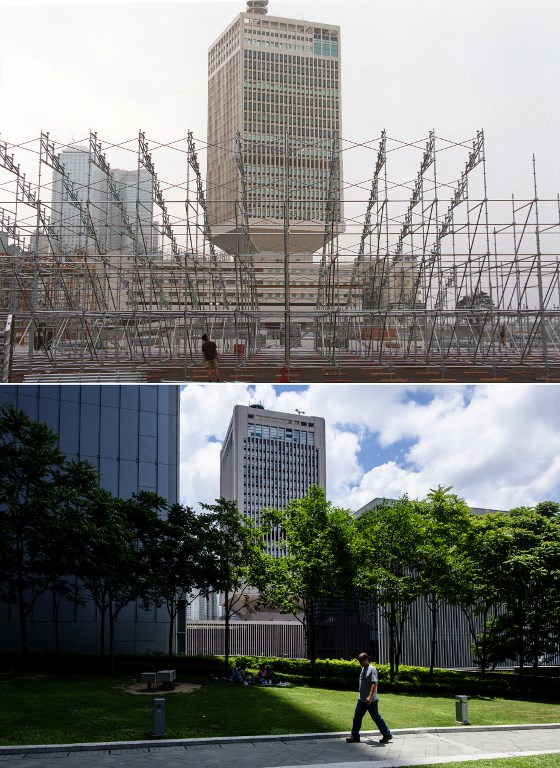 now and then hong kong compared old photo