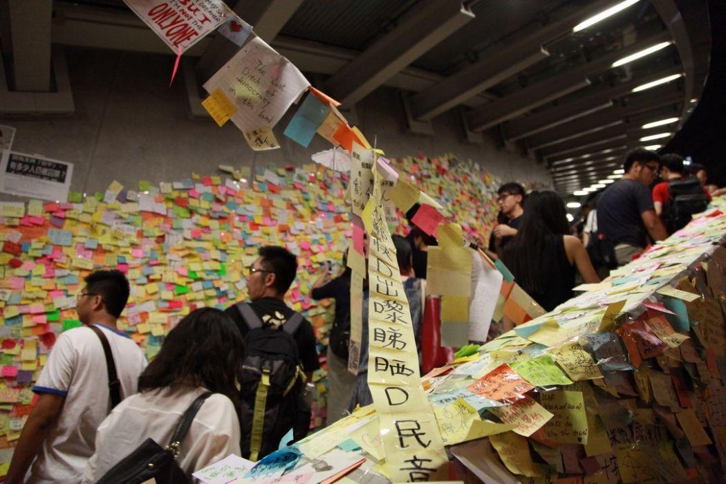 tear gas umbrella occupy movement 2014 democracy